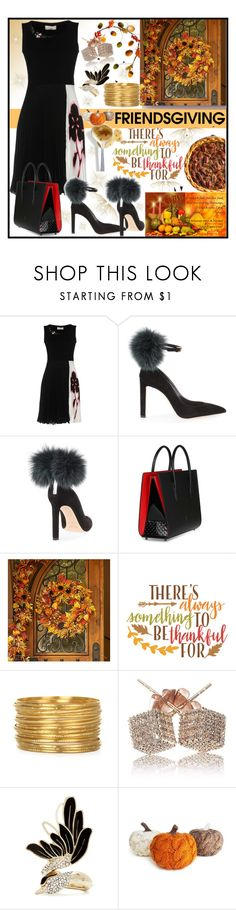 """Friendsgiving"" by jeneric2015 ❤ liked on Polyvore featuring VDP, Jimmy Choo, Christian Louboutin, Improvements, Sweet Note, Cricut, Lanvin and friendsgiving"