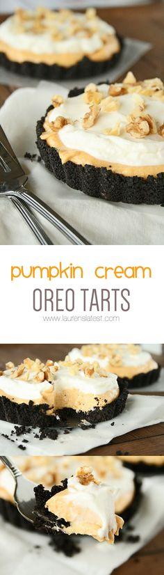 Pumpkin Cream Oreo Tarts... No Bake!!