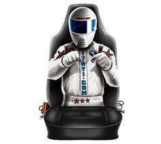 "Autositzbezug Travel Mate für Sitzlehne ""Race Driver"" 1 Stück Racing, Travel, Shopping, Running, Viajes, Traveling, Lace, Trips, Tourism"