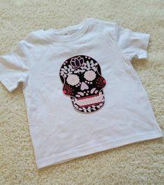 Sugar Skull Children's Toddler Tshirt. Sizes 2T 3t by StarrJoy16