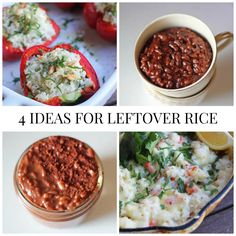 Got leftover rice? I've got 4 ideas to turn that pot of boring into deliciousness!