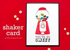 Sequin Shaker Card Video by Jennifer McGuire Ink