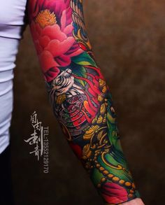 Japanese tattoo sleeve by @ziyoutattoo. #japaneseink #japanesetattoo #irezumi #tebori #colortattoo #colorfultattoo #cooltattoo #largetattoo #armtattoo #flowertattoo #peonytattoo #rabbittattoo #firetattoo #skulltattoo #fishtattoo #koitattoo #newschool #newschooltattoo #blackwork #blackink #blacktattoo #wavetattoo #naturetattoo