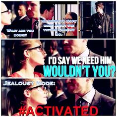 hahah got to love how jealous Oliver gets over Felicity!
