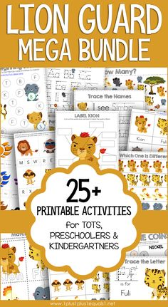 Lion Guard Printables for Tot School, Preschool, and Kindergarten! FREE for email subscribers during the COVID-19 Pandemic. #1plus1plus1 #totschool #kindergarten #homeschool #earlychildhood #totschool #homeschoolingideasfortoddlers #preschoolers #preschoolactivities #homeschoolpreschool #kindergartenworksheets #kindergartenmath #preschoolmath Preschool At Home, Kindergarten Worksheets, Preschool Activities, Homeschool Curriculum, Homeschooling, Tracing Letters, Family Outing, Tot School, Early Learning
