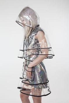 Transparent Hoodie Clear Rainwear Runway Raincoat for 1-15Years Kids Rain Coat