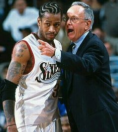 Allen Iverson and Larry Brown