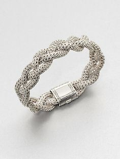 John Hardy - Sterling Silver Braided Chain Bracelet/Medium - Saks