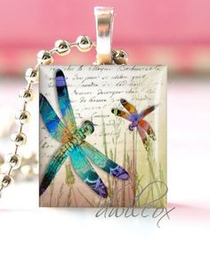 Tutorial how to make a scrabble tile pendant scrabble tiles scrabble tile pendant necklace purchase dragonflies aloadofball Image collections