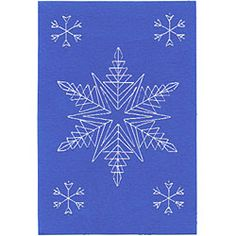 Stitched snowflake design for cards. Download for $1.62 US.
