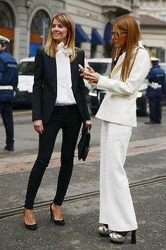 Anna Dello Russo with her  assistant at Vogue, Carlotta Oddi #AdR #AnnaDelloRusso