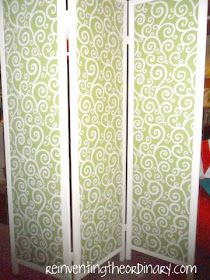 Reinventing the Ordinary: DIY ... Re-reupholstering a Room Divider