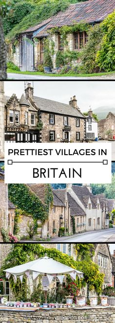 Where to find 9 of the prettiest towns and villages in Britain. From the Cotswolds to Scotland, you'll want to travel to these places.  #britain #england #scotland #wales