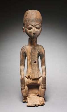 Male Figure, c. 1930s. Guinea Coast, Ivory Coast, Baule or Anyi, 20th century.
