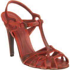 Bottega Veneta does full throwback appeal in textured leather t-strap caged sandal