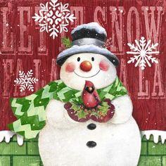 Brick Snowmen: Cardinal -- By Geoff Allen