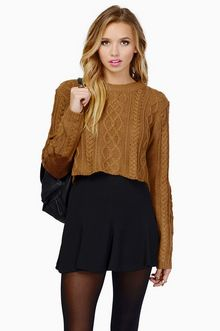 I like crop tops, and I figured another cropped sweater would be nice. Plus I like the elbow details.