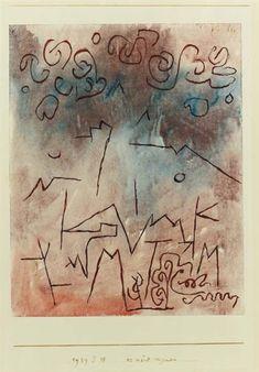 Artwork by Paul Klee, Es wird regnen