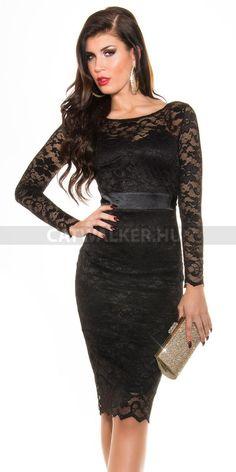 Alkalmi ruha 18408, csipke - fekete