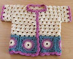 Little girl's jacket pattern by Helen Idarand Too adorable. Little girl's crochet jacket. Crochet Baby Cardigan, Crochet Baby Clothes, Crochet Girls, Crochet Jacket, Crochet For Kids, Knitting For Kids, Baby Knitting, Crochet Dress Outfits, Little Girls Jackets