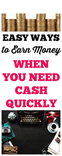 16 easy and realistic ways to earn money for little emergencies, fun extras, or for Christmas and other holidays. Both online and community options are listed. #money #moneytips #earnmoney #job #fast