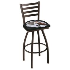 Philadelphia Flyers NHL D2 Black Ladder Back Bar Stool available in 25-inch and 30-inch seat heights. Visit SportsFansPlus.com for details!