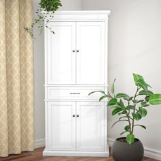 online shopping for Garlock 72 Kitchen Pantry Alcott Hill from top store. See new offer for Garlock 72 Kitchen Pantry Alcott Hill Corner Kitchen Pantry, Kitchen Pantry Cabinets, Ikea Kitchen, Kitchen Storage, Tall Cabinet Storage, Kitchen Ideas, Pantry Ideas, Wall Storage, Wall Pantry