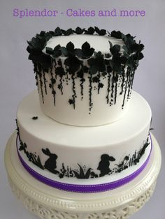 Bunnies á la Rose Miller - by splendorcakes @ CakesDecor.com - cake decorating website