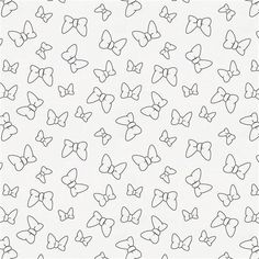 Disney Onyx Minnie Bows fabric available by the yard from Carousel Designs. Royal Icing Templates, Royal Icing Transfers, Cake Templates, Bow Template, Templates Printable Free, Printables, Baby Coloring Pages, Pattern Coloring Pages, Printable Adult Coloring Pages