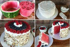 This looks soooo good, i would also consider usibg Fage.  http://www.isavea2z.com/no-bake-watermelon-cake-recipe/
