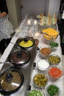 mastini bar - but, wait, what if we did a taco or nacho bar at the park? Rehearsal Dinner/Bridal Shower ideas