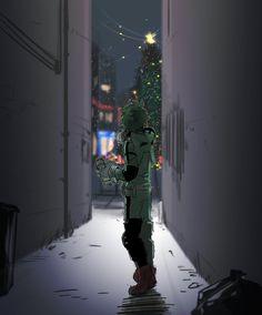 Deku Midoriya Christmas Boku no Hero Academia