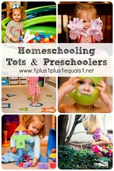 Homeschooling Tots & Preschoolers...a 10 day series from 1+1+1=1