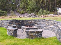 What a great fire pit - built on the South Coast of NSW by Roland deSaxe from Rock Flat Basalt.