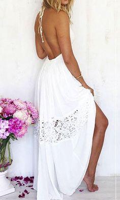 BALI DREAM MAXI DRESS in WHITE