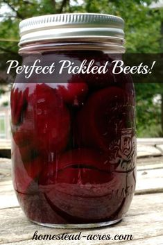 Perfect pickled beets! This is my Grandmothers recipe I've been enjoying since I was a little girl. So easy to make and can to enjoy all year. #canning #recipes #homesteadacres