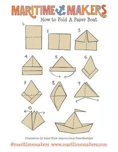 YAYA FW'16   IT'S MARITIME   FOLD A BOAT#YAYAthebrand #YAYAFW16 #itsmaritime #boat #paper #fold