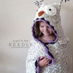 I've seen lots of cute hooded owl blankets floating around the interwebs. This little owl of mine flew to Germany last summer to help a little one celebrate her birthday.  • • • • Yarn: I Love This Yarn - Ivory Tweed, Purple, Orchid, White • • • • #owlblanket #owlcrochet #crocheter #lovecrochet #vkdtbo #flashesofdelight #etsyshop #ourmakerlife #shopetsy #etsysellersofinstagram #etsyseller #calledtobecreative #morningslikethese #handmade #crochet #crochetaddict #instacrochet #makersmovement…
