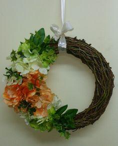 Wiosenny wianek Grapevine Wreath, Grape Vines, Wreaths, Diy, Crafts, Home Decor, Paper, Manualidades, Decoration Home