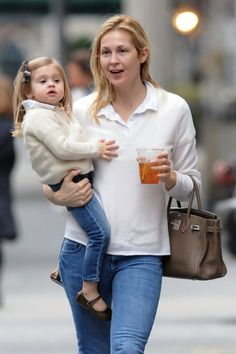 Kelly Rutherford & Helena. They are adorable