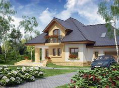 Zdjęcie projektu Solon WRW1125 House Construction Plan, Framing Construction, Good House, Simple House, Roof Plan, Exterior, Design Case, Home Fashion, Beautiful Homes