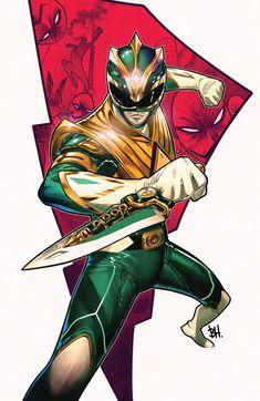 Power Rangers Fan Art, Power Rangers Comic, Power Rangers Zeo, Pawer Rangers, Mighty Morphin Power Rangers, Green Power Ranger, Character Art, Character Design, Kamen Rider Ooo