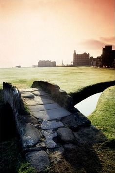 Swilkin Bridge St Andrews Old Course, Scotland.  We were chased off the course by groundskeeper Willie.  No joke.