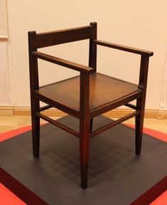 """""""This is a very rare example of Russian Avant-Garde furniture – wooden armchair designed by architect Boris Iofan in 1920s. Sleek minimalistic forms, rigid structure, total absence of any embellishment – all this was quite revolutionary for this period of time. This chair is even more exciting because it it one of very few representing that style that survived during the World War II."""""""