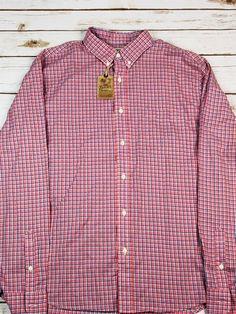 cd7857d19e3fc Faherty Rose Check Laguna Shirt Long Sleeve Size XL Men's $168 NWT | eBay