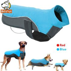 Waterproof Dog Vest Jacket Warm Reflective Pet Clothes Winter Puppy Coat Sweater For Small Medium Large Dogs Chihuahua Pitbull