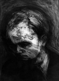 Frank Auerbach - charcoal and eraser drawing. I like this charcoal drawing as it shows a different range of light and dark tones and shaded in the portrait. I like how the artist has smudged and take away parts in the  face to bring out the emotions in the person itself.