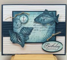 Mary's Craft Room: By The Tide Birthday Card