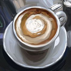 Quick cup of coffee painting by MrsVengsouk