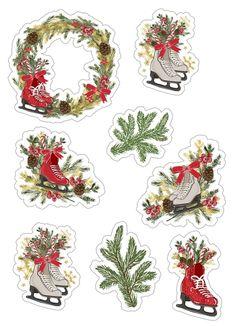 Скрапбукинг, рукоделие Christmas Stickers Printable, Printable Stickers, Christmas Printables, Christmas 2018 Ideas, 3d Christmas, Christmas Pictures, Scrapbook Stickers, Planner Stickers, Scrapbook Paper